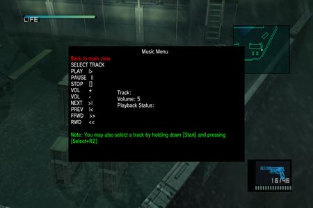 PS3 ingame menu