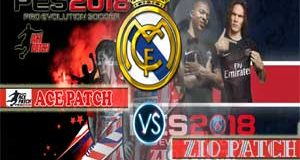 PES 2018 PS3: ACE Patch Vs Zio Patch For Real Madrid