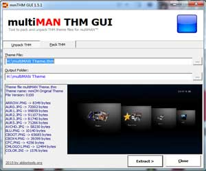 multiMAN Theme GUI (mmTHM GUI) 1.5.1 by Aldostools