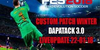 PES 2018 PS3 Custom Patch Update Winter DLC 3.0 Patch 1.04