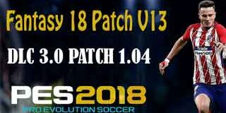 PES 2018 PS3 CFW Compatible DLC 3.0 Fantasy 18 Patch v13