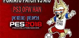 Potato Patch V5 AIO PES 2018 PS3 OFW HAN (DLC4 Patch 1.07)