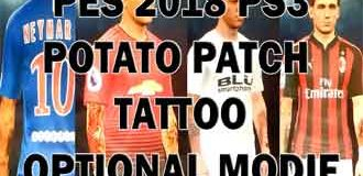Modif Tattoo PES 2018 Potato Patch