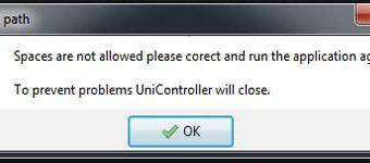 PKG Linker V2 Error Space are not allowed