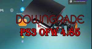 Downgrade PS3 OFW 4.85 ke CFW