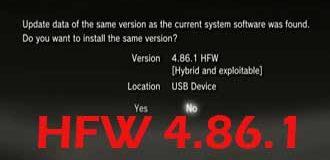 PS3 HFW 4.86.1 – PS3 HEN 3.0.1