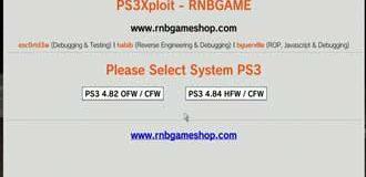 PS3Xploit Enabler Miniweb Offline OFW 4.82 + HFW 4.84