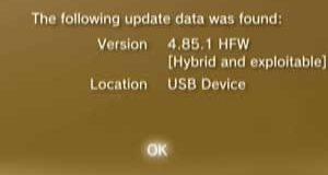 Update PS3 HFW 4.85.1